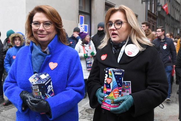 Małgorzata Kidawa-Błońska i Magdalena Adamowicz /Marcin Gadomski /PAP