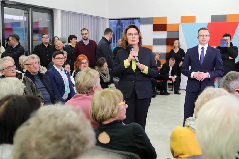 Małgorzata Kidawa-Błońska na trasie kampanii wyborczej /Roman Zawistowski /PAP/EPA