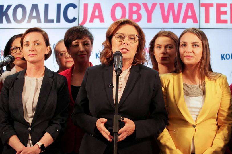 """Małgorzata Kidawa-Błońska podczas konferencji prasowej """"Kobiety kobietom"""" /Mateusz Marek /PAP"""