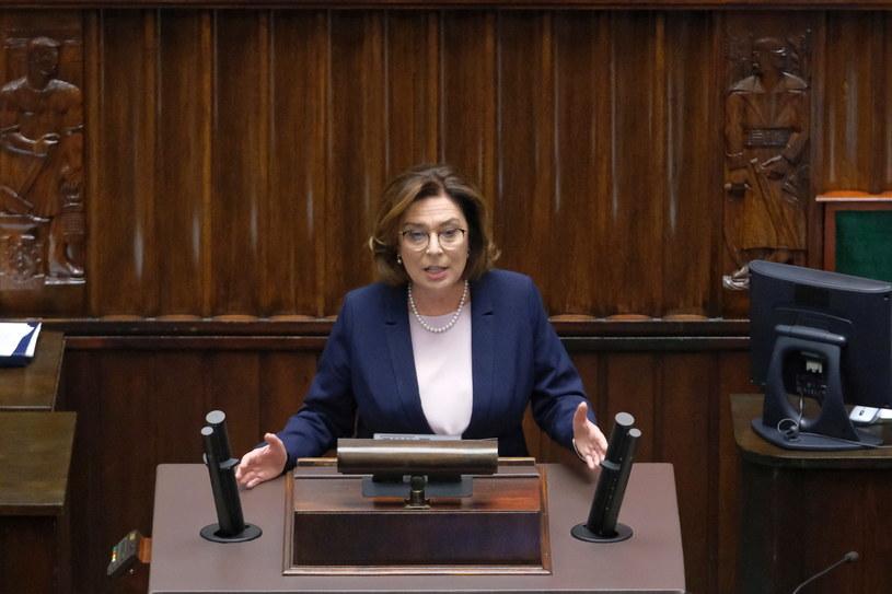 Małgorzata Kidawa-Błońska podczas poniedziałkowej debaty /Mateusz Marek /PAP