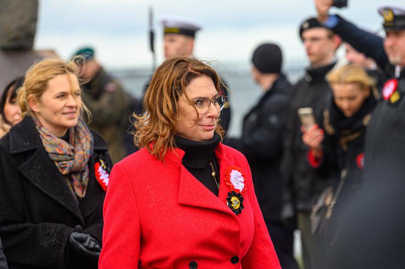 Małgorzata Kidawa-Błońska podczas uroczystości na Pomorzu /Jacek Klejment /East News