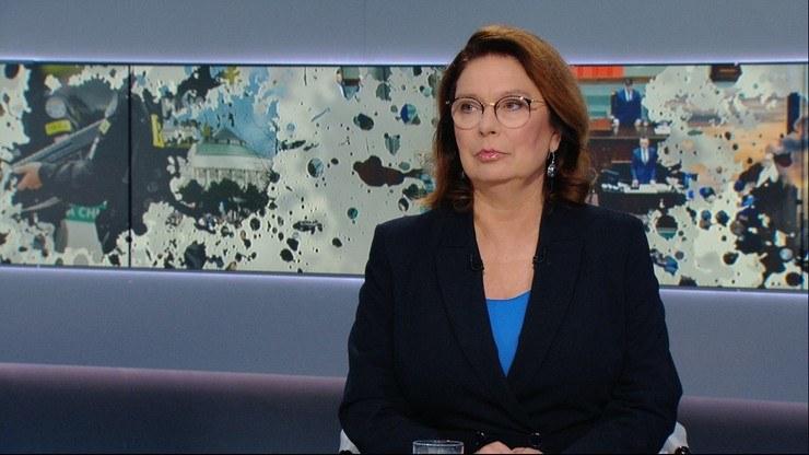 Małgorzata Kidawa-Błońska w programie Graffiti /Polsat News