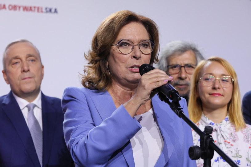 Małgorzata Kidawa-Błońska w sztabie Koalicji Obywatelskiej /Paweł Supernak /PAP