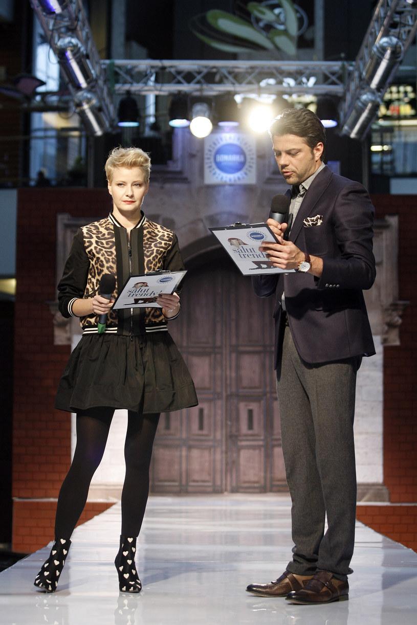 Małgorzata Kożuchowska 15 marca poprowadziła pokaz mody w krakowskiej galerii handlowej /Łukasz Gagulski /Agencja FORUM