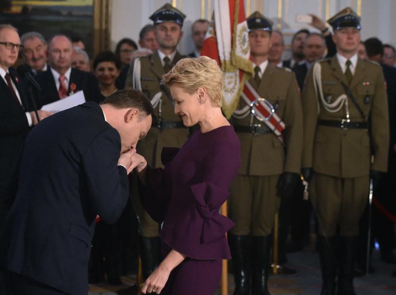 Małgorzata Kożuchowska i Andrzej Duda /Adam Chełstowski /Agencja FORUM