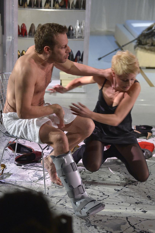 Małgorzata Kożuchowska i Grzegorz Małecki w teatrze /Kurnikowski /AKPA