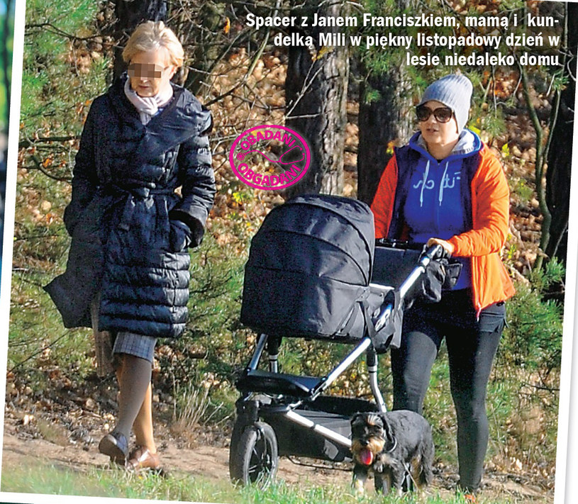 Małgorzata Kożuchowska na pierwszym spacerze z synem /Życie na gorąco