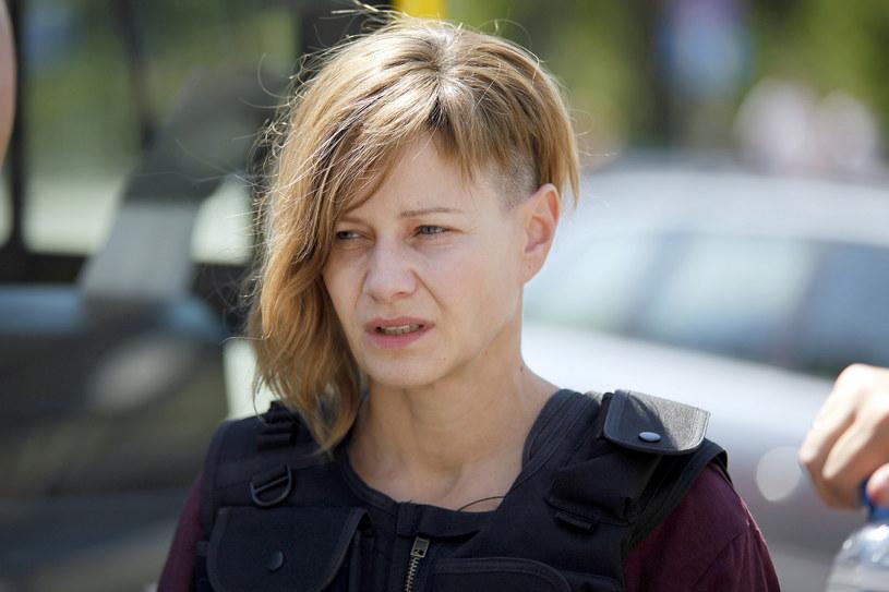 """Małgorzata Kożuchowska na planie filmu """"Plagi Breslau"""" /Telus /AKPA"""