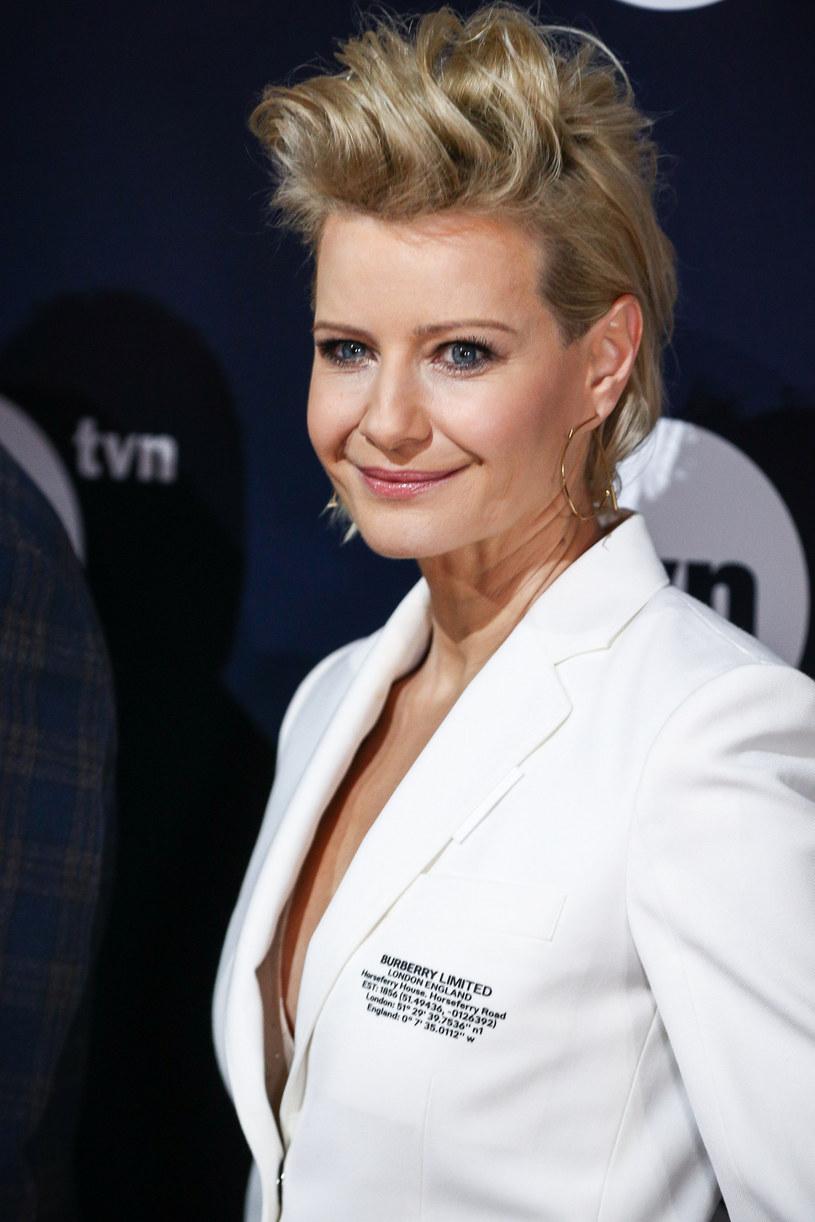 Małgorzata Kożuchowska na prezentacji ramówki TVN-u /Kamil Piklikieiwcz /East News