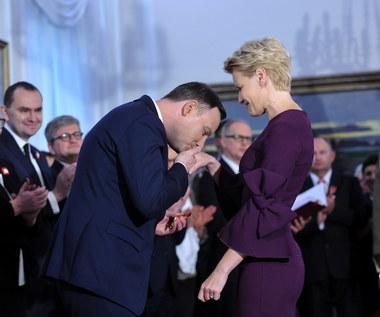 Małgorzata Kożuchowska odznaczona przez prezydenta Andrzeja Dudę