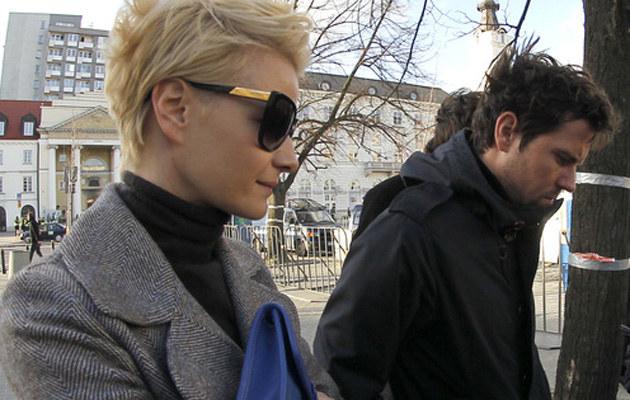 Małgorzata Kożuchowska z meżem /Baranowski /AKPA