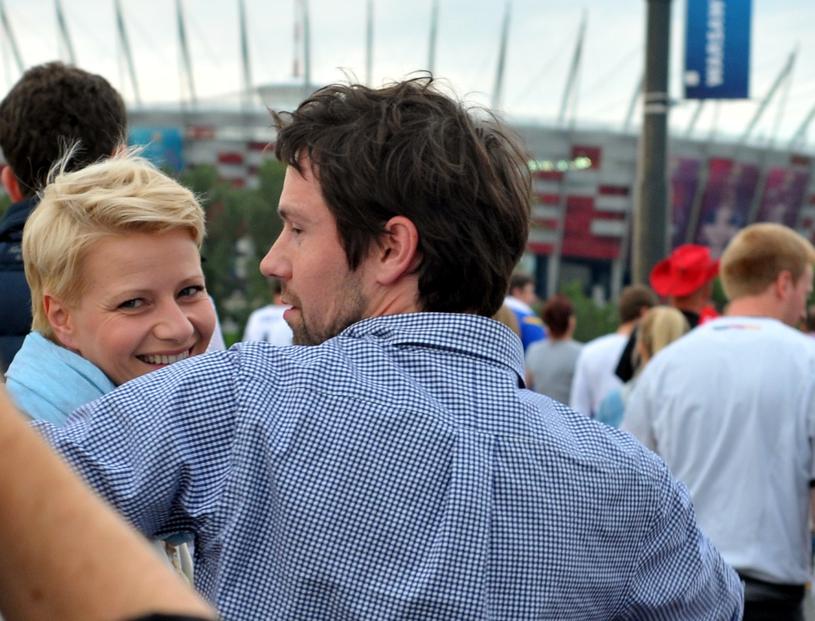 Małgorzata Kożuchowska z mężem /Witold Rozbicki /Reporter