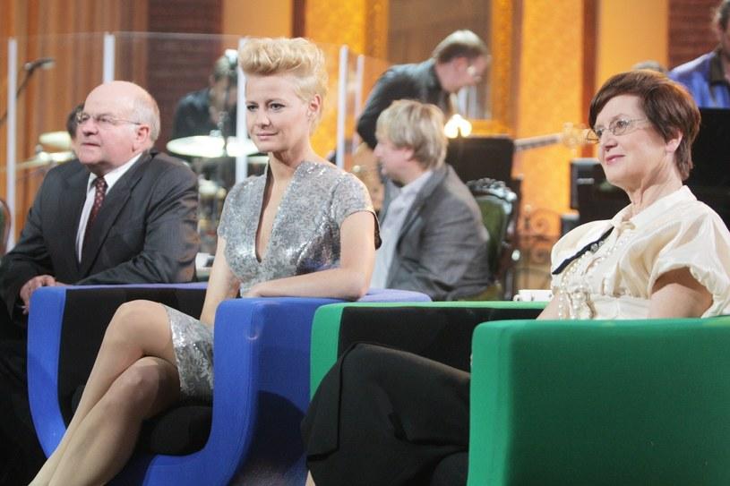 Małgorzata Kożuchowska z rodzicami /Piotr Grzybowski /East News