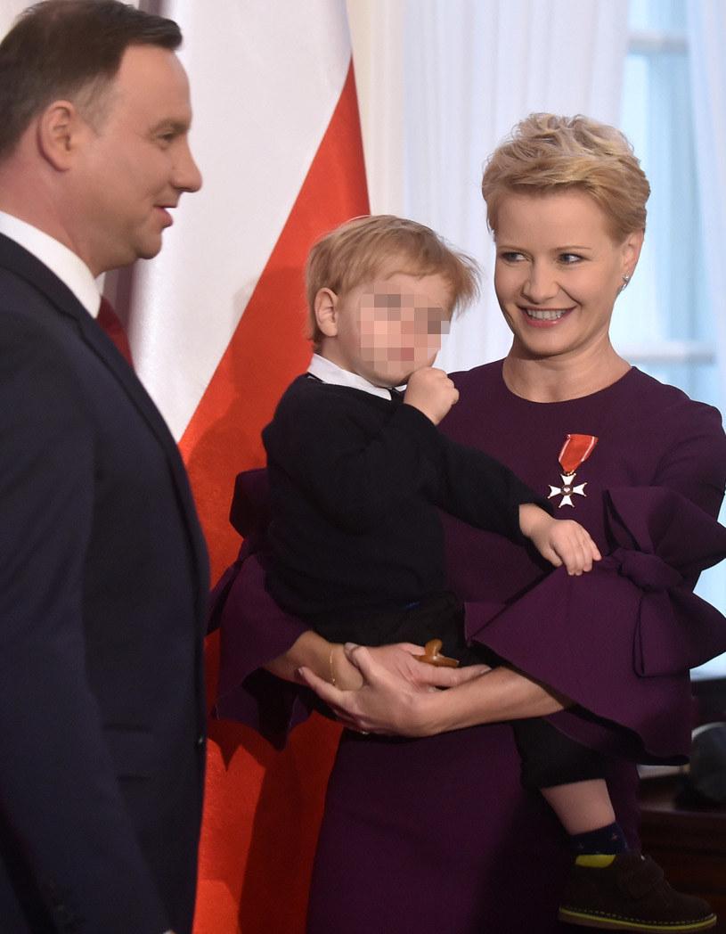 Małgorzata Kożuchowska z synem u prezydenta /Adam Chelstowski /Agencja FORUM