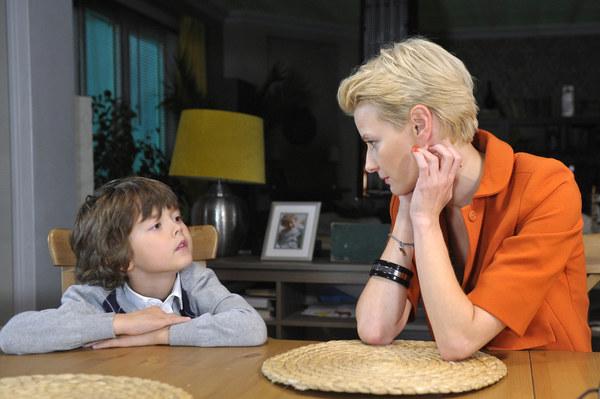 Małgorzata Kożuchowska ze swoim serialowym synem Kacprem (Mateusz Pawłowski)