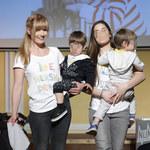 Małgorzata Lewińska z dziećmi na salonach!