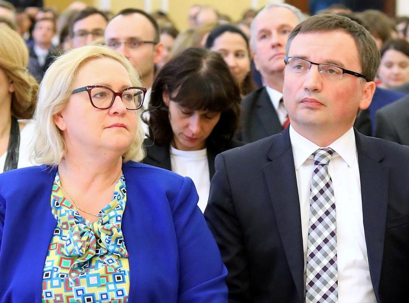 Małgorzata Manowska i Zbigniew Ziobro /Stanisław Kowalczuk /East News