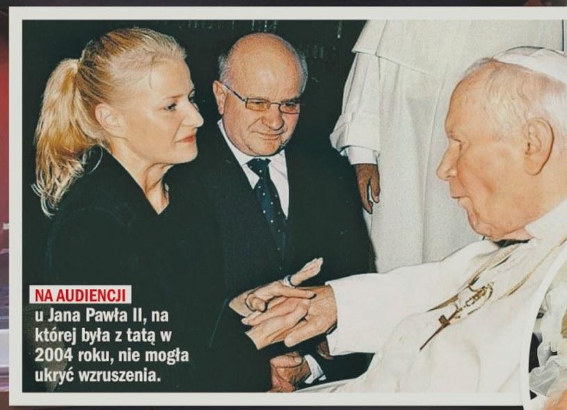 Małgorzata na spotkaniu z Janem Pawłem II /- /Rewia