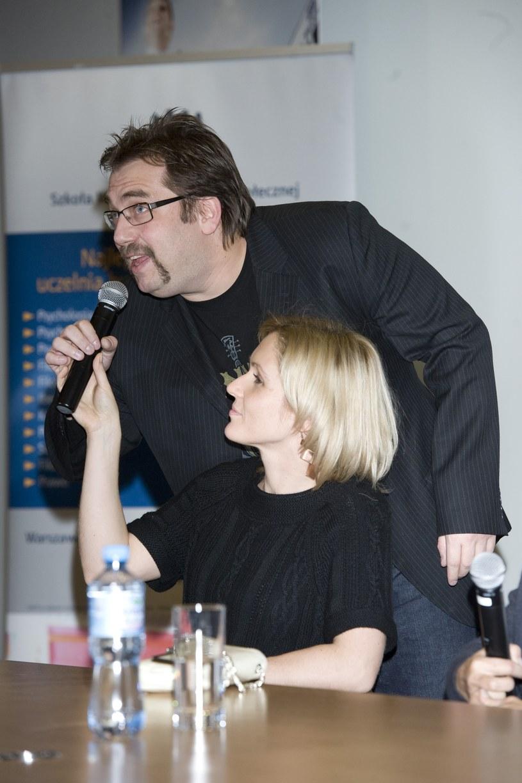 Małgorzata Ohme i Bartosz Węglarczyk podczas promocji książki Kingi Rusin  /MWMedia