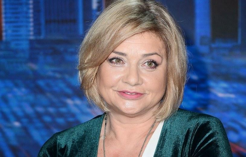 """Małgorzata Ostrowska-Królikowska podczas nagrania programu """"Jaka to melodia?"""" /VIPHOTO /East News"""