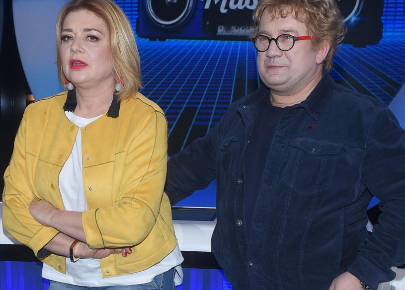 Małgorzata Ostrowska-Królikowska z Pawłem /Andras Szilagyi /MWMedia
