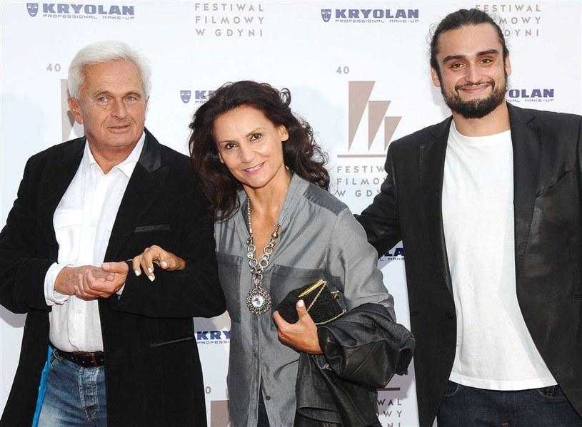 Małgorzata Pieczyńska z mężem i synem /Agencja W. Impact