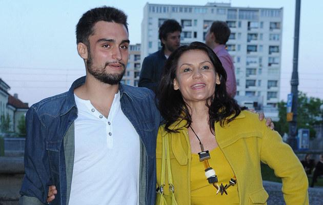 Małgorzata Pieczyńska z synem Victorem /Andras Szilagyi /MWMedia