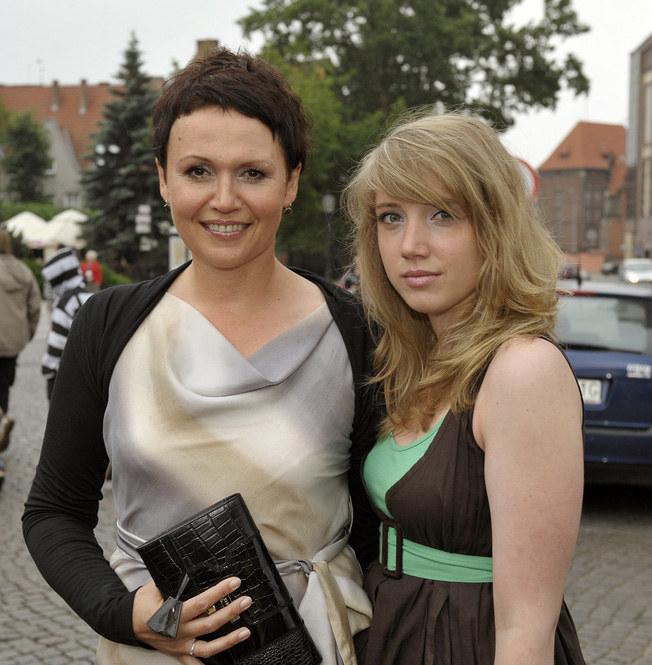 Małgorzata Pieńkowska z córką Inką /Gałązka /AKPA