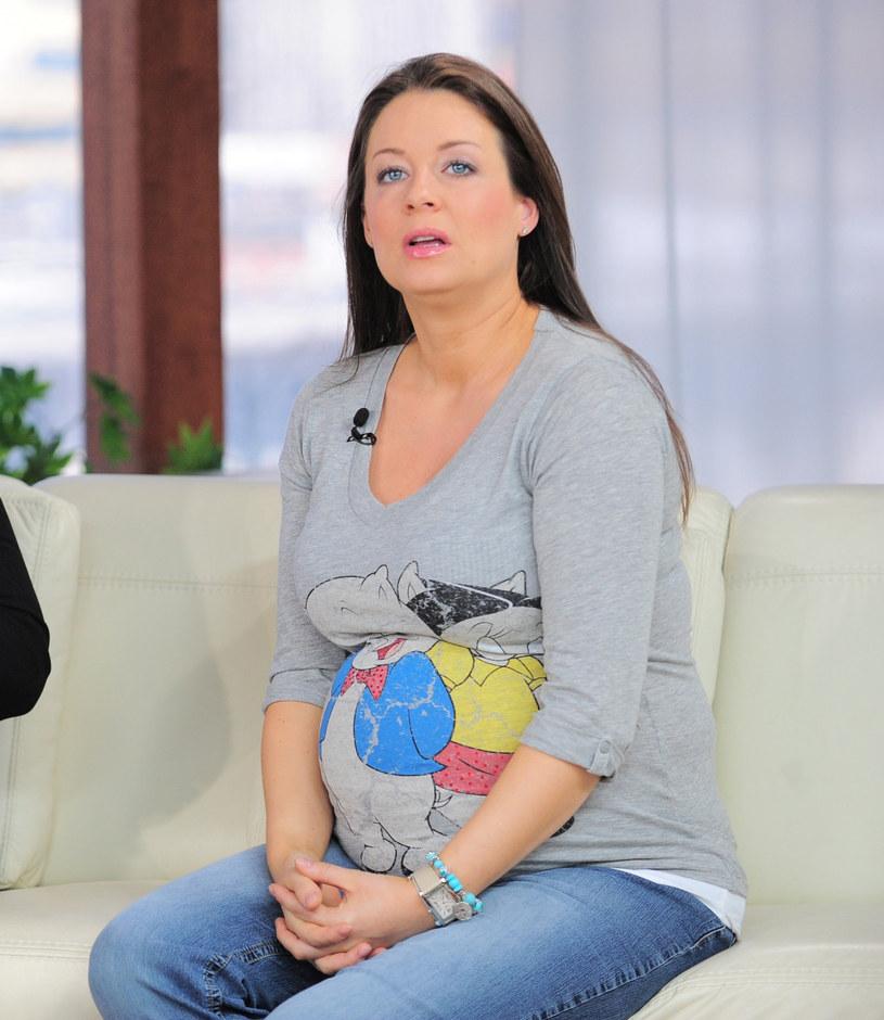 Małgorzata podczas poprzedniej ciąży /Wojtek Olszanka /East News