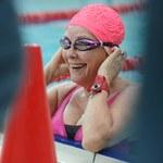 Małgorzata Potocka podczas mistrzostw aktorów w pływaniu!