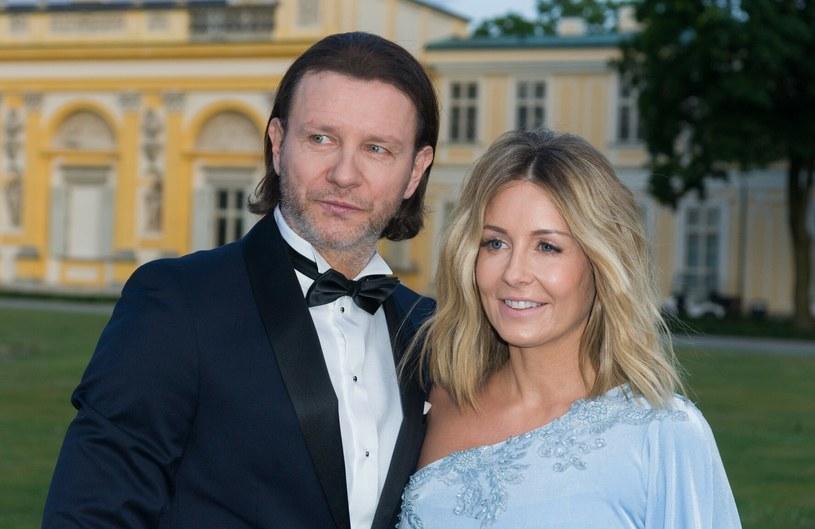 Małgorzata Rozenek-Majdan i Radosław Majdan na zdjęciu w 2019 roku /Artur Zawadzki /Reporter