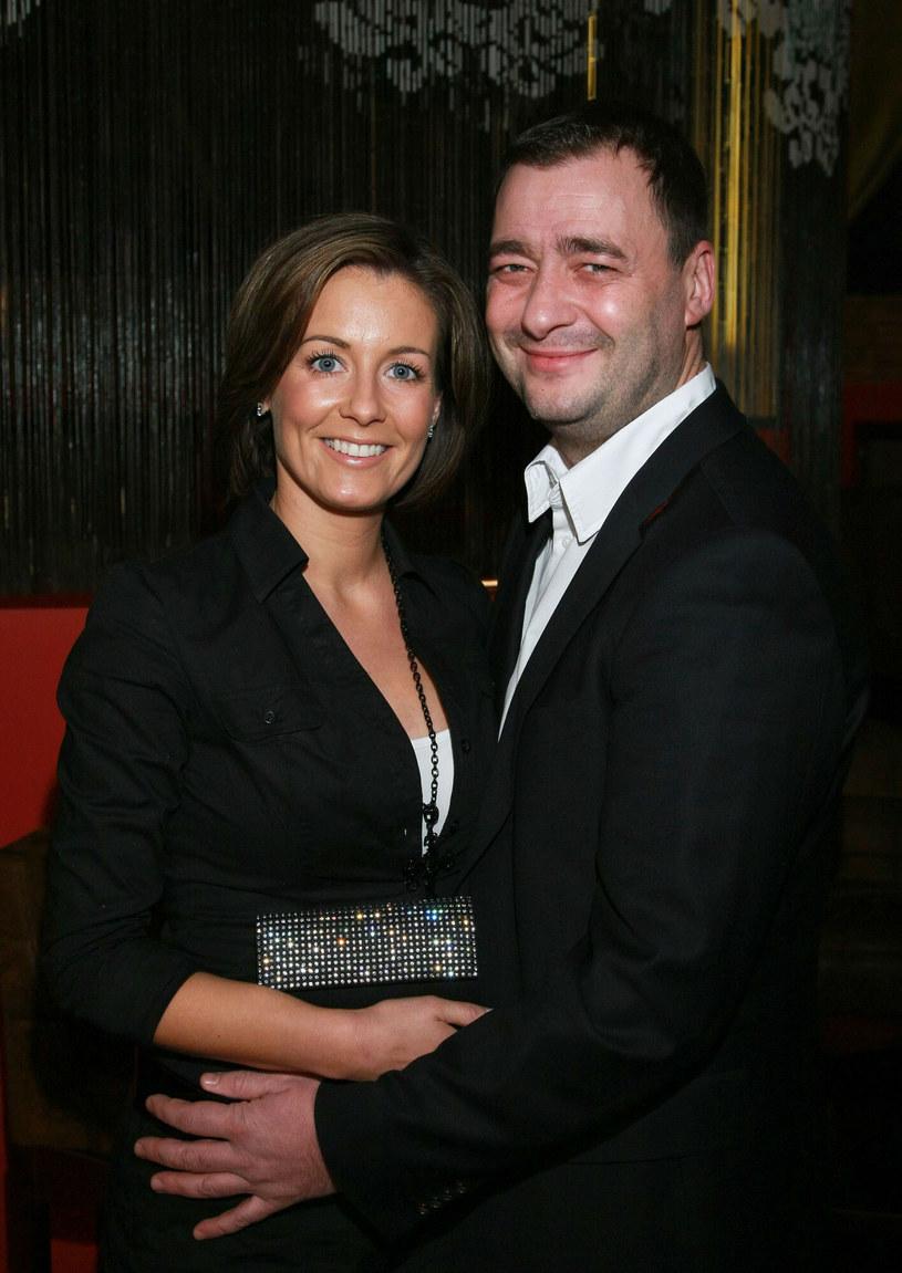 Małgorzata Rozenek-Majdan na zdjęciu z byłym mężem w 2007 roku /Piotr Fotek /Reporter