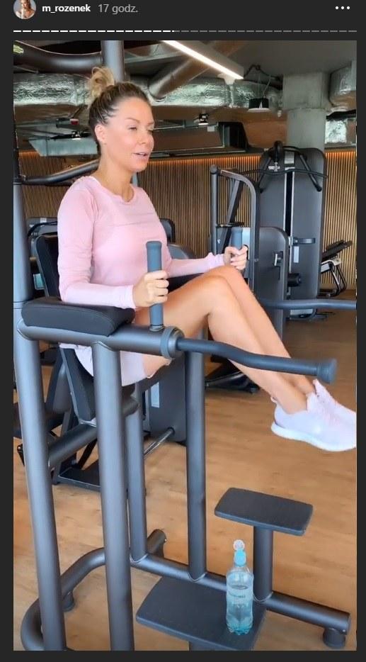 Małgorzata Rozenek-Majdan podczas ćwiczeń na siłowni /Instagram/ Małgorzata Rozenek Majdan /Instagram
