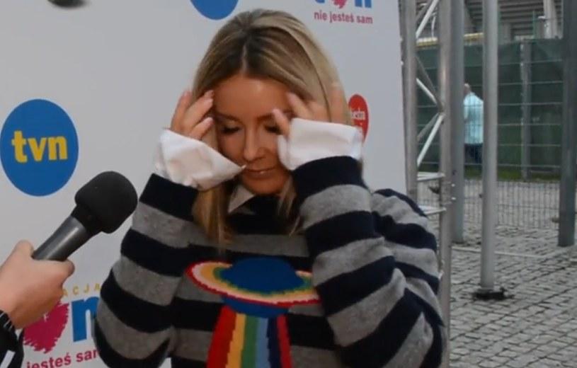 Małgorzata Rozenek-Majdan podczas wywiadu /