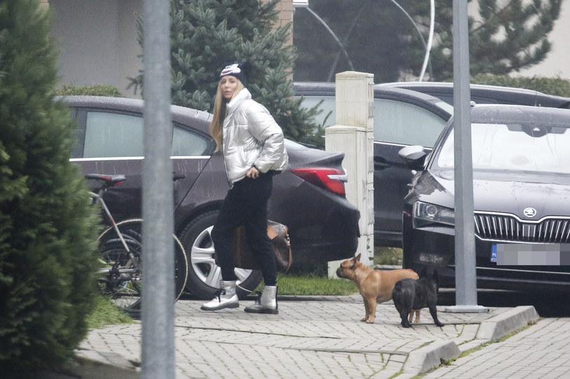 Małgorzata Rozenek-Majdan z psami /WOLF /Newspix
