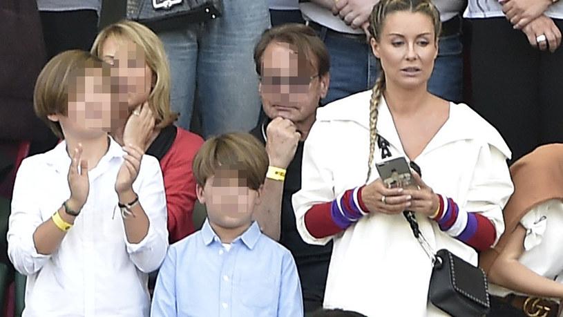 Małgorzata Rozenek-Majdan z synami /Kurnikowski /AKPA