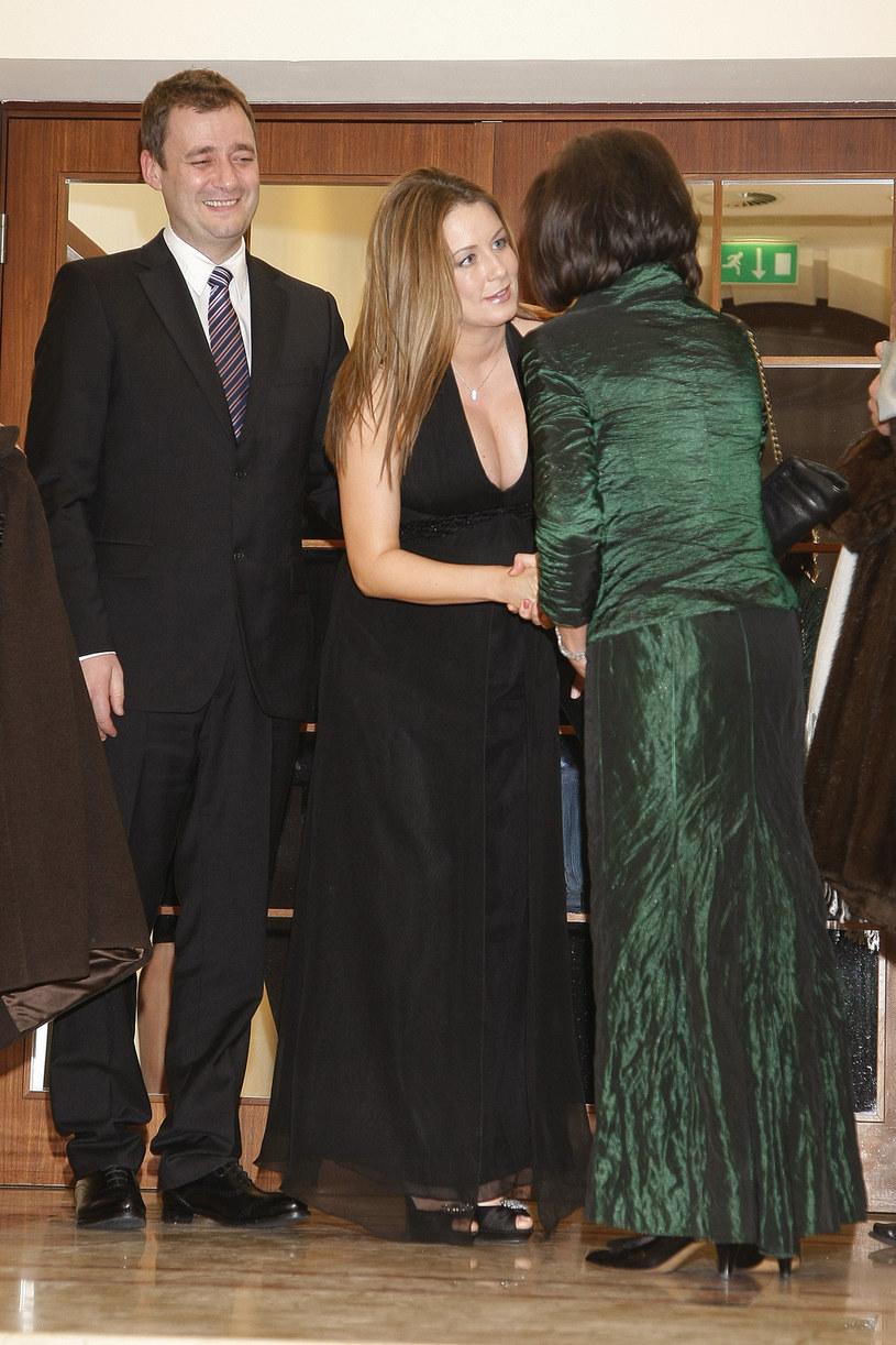 Małgorzata Rozenek z byłym mężem w 2010 roku /Jarosław Wojtalewicz /AKPA