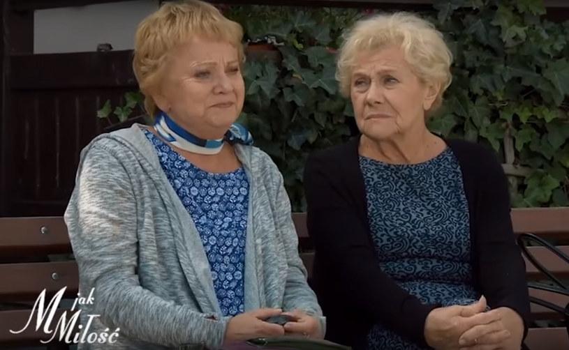 """Małgorzata Rożniatowska i Teresa Lipowska w serialu """"M jak miłość"""" /YouTube /materiał zewnętrzny"""