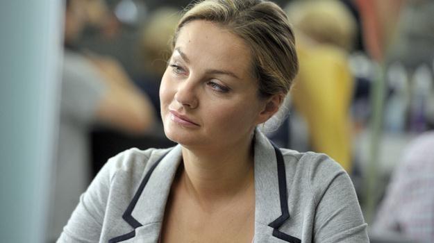 """Małgorzata Socha na planie serialu """"Przyjaciółki"""" / fot. Kurnikowski /AKPA"""