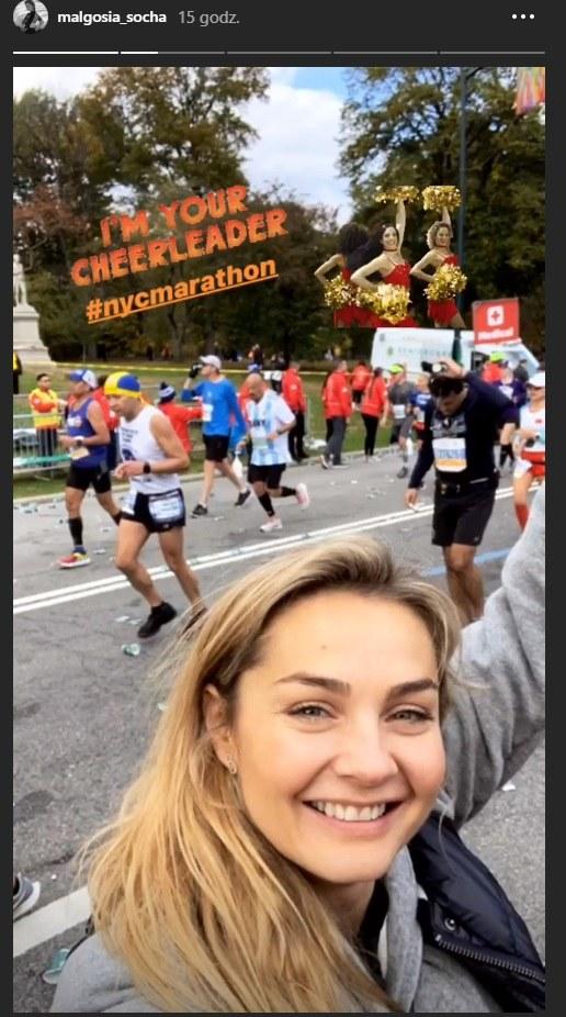 Małgorzata Socha podczas nowojorskiego maratonu /Instagram/@malgosia_socha  /Instagram