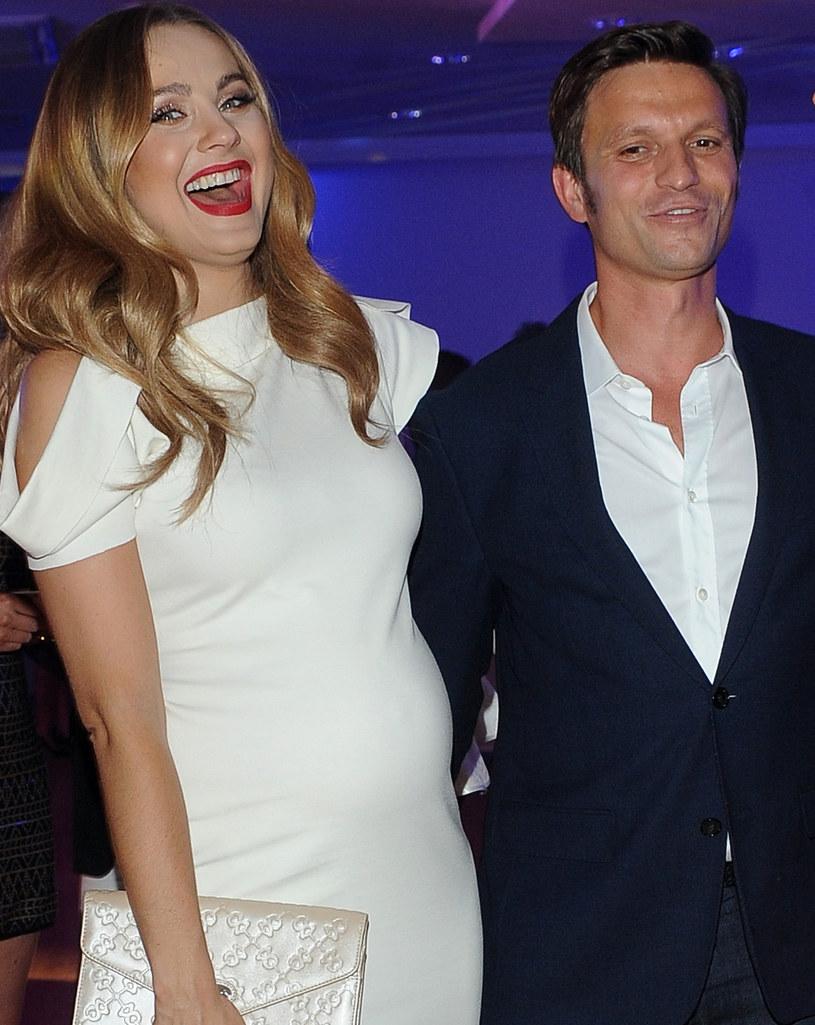 Małgorzata Socha z mężem /Andras Szilagyi /MWMedia