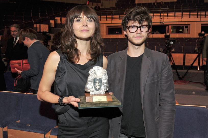 Małgorzata Szumowska i Mateusz Kościukiewicz na Festiwalu Filmowym w Gdyni (2013) /AKPA