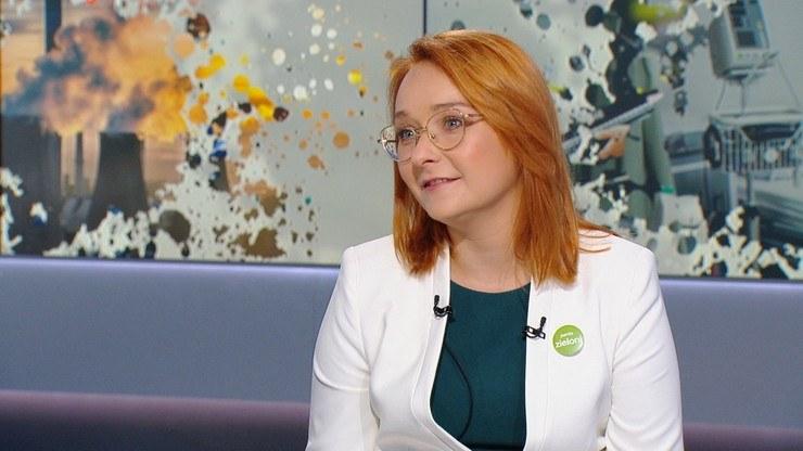 """Małgorzata Tracz (Partia Zieloni, Koalicja Obywatelska) w programie """"Graffiti"""" /Polsat News"""