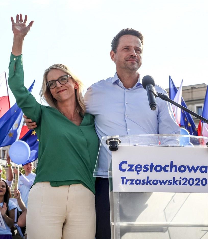 Małgorzata Trzaskowska i Rafał Trzaskowski /Beata Zawrzel /Reporter