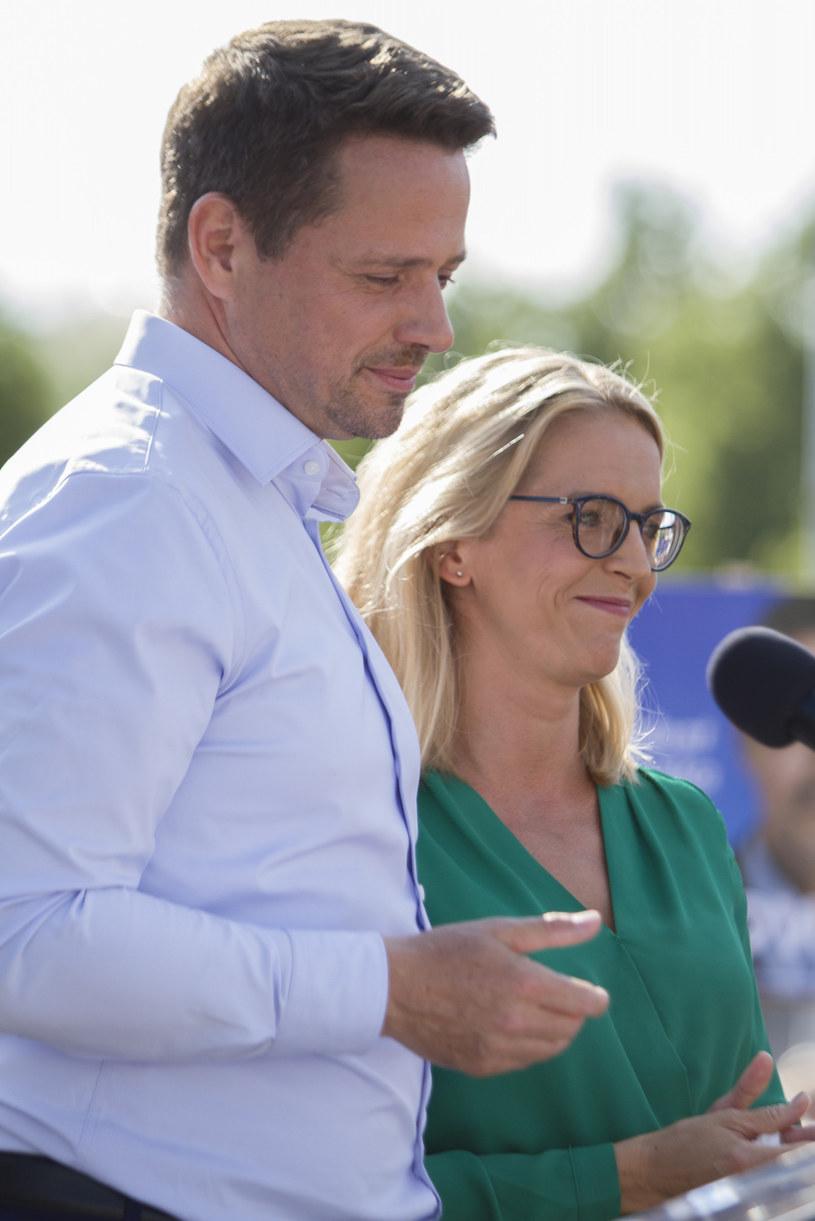 Małgorzata Trzaskowska i Rafał Trzaskowski /Adrian Ciężki /Reporter