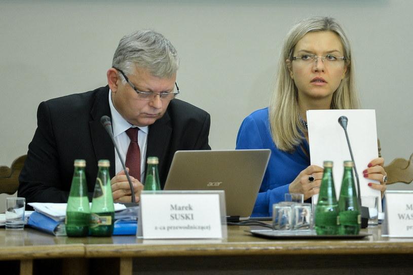 Małgorzata Wassermann i Marek Suski /Marcin Obara /PAP