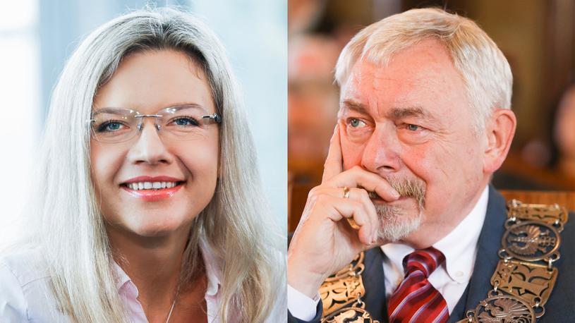 Małgorzata Wassermann, Jacek Majchrowski /Beata Zawrzel/REPORTER /Reporter