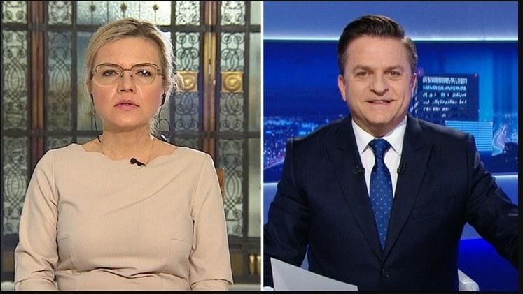 """Małgorzata Wassermann (PiS) w programie """"Gość Wydarzeń"""" (Polsat News) /"""