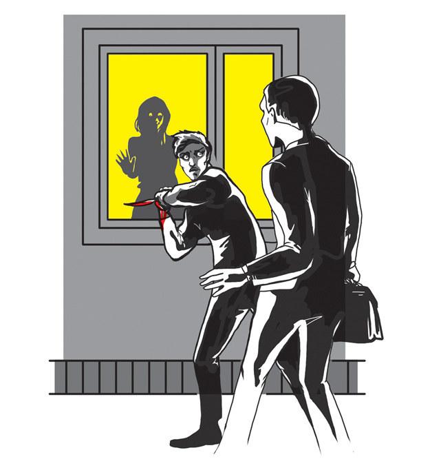 Małgorzata widziała, jak Roman mordował jej męża /rys. Paulina Dudzik /Śledztwo