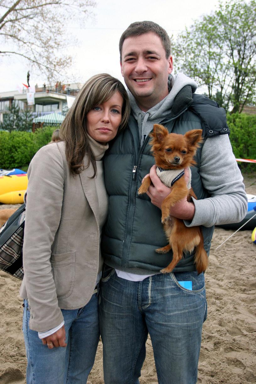 Małgorzata z byłym mężem (2005 rok) /- /AKPA